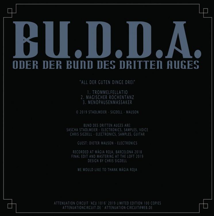 BU.D.D.A. ALL DER GUTEN DINGE DREI cover back