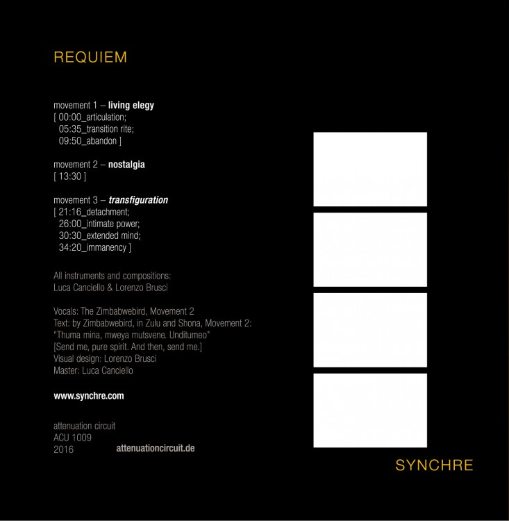SYNCHRE Requiem cover back