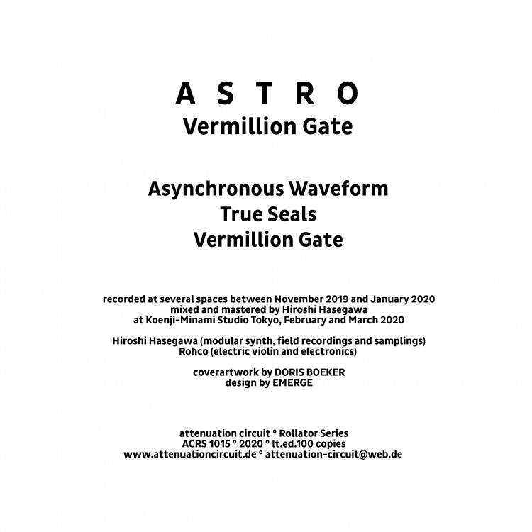 ASTRO Vermillion Gate cover back